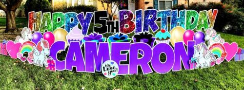 premium rainbow happy birthday yard card springfield va