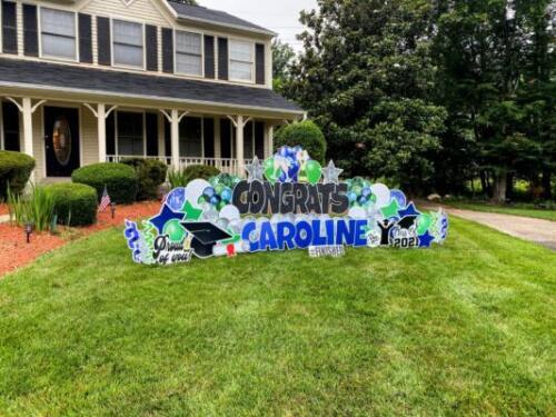 caroline congrats graduation yard card fairfax station va