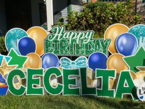 cecelia birthday yard sign alexandria va