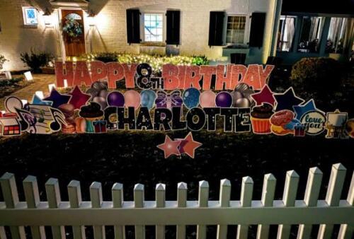 charlotte's birthday yard card alexandria va