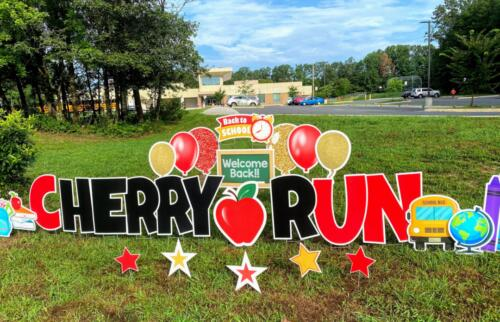cherry run back to school yard sign burke VA