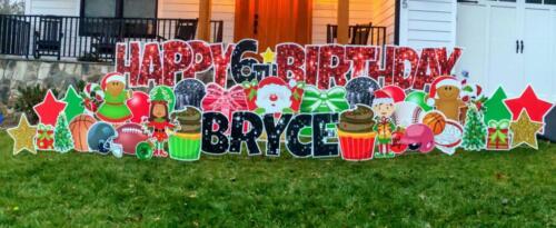 christmas birthday yard sign falls church va