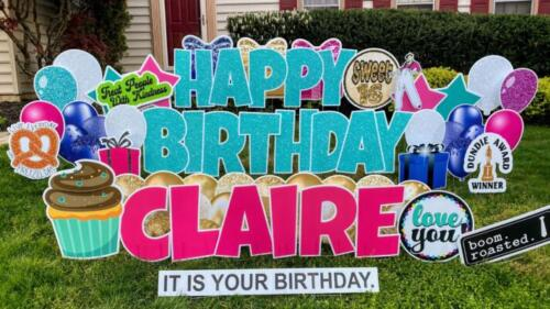 claire sweet 16 yard signs springfield va