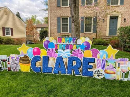 clare birthday yard sign burke va