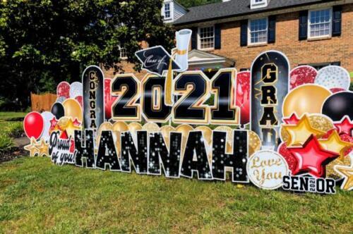 class of 2021 graduation congrats yard card alexandria va