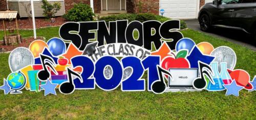class of 2021 seniors yard card alexandria va