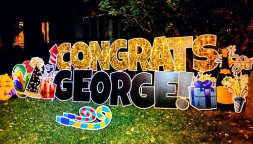 congrats yard card celebration springfield va