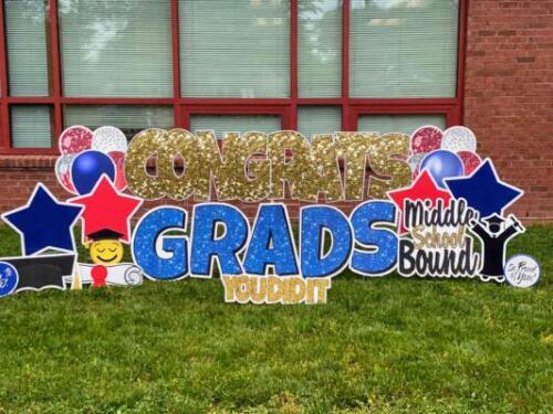 congrats grads 6th grade yard sign