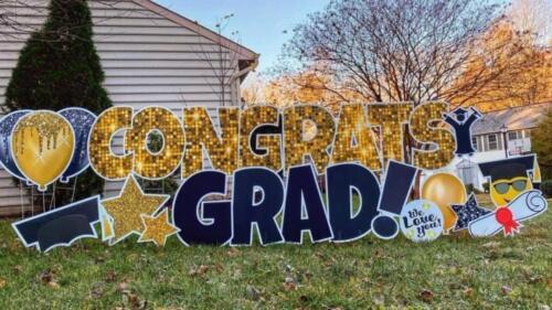 congrats graduation yard card springfield va