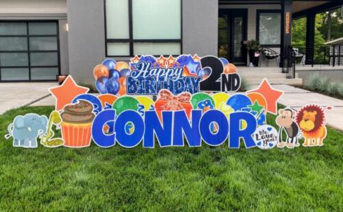 connor 2nd birthday yard sign falls church va