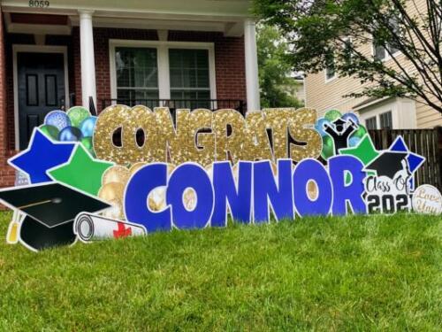connor graduation yard card alexandria va