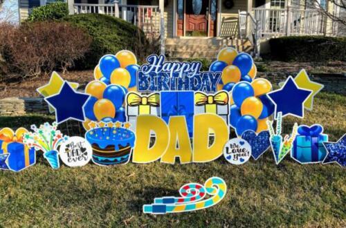 dad birthday yard card burke va