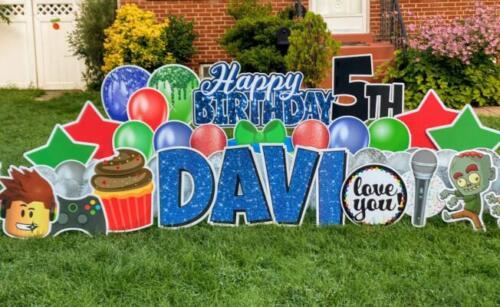davi birthday yard card arlington va