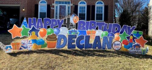declan 4th birthday yard cards fairfax va