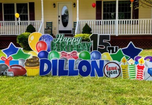 dillon 15th birthday yard sign lorton va