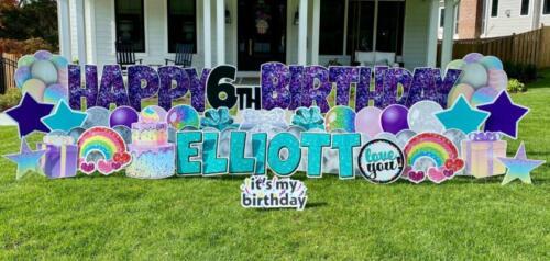 elliott birthday yard sign alexandria va