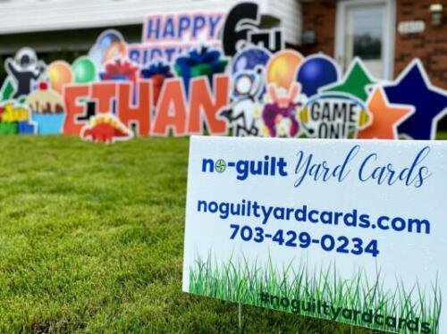 happy birthday yard sign burke va
