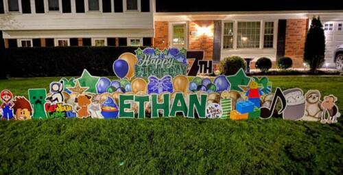 ethans 7th birthday yard card alexandria va