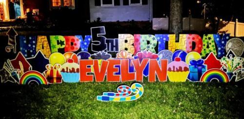happy birthday yard sign alexandria va