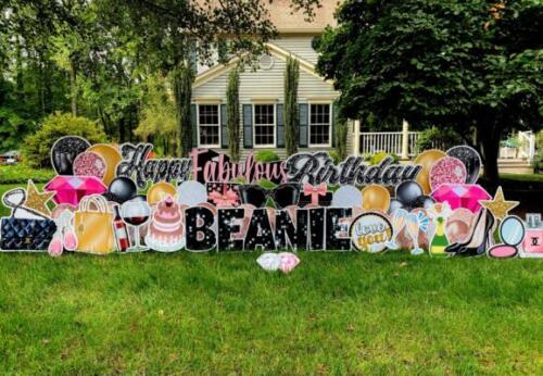 fabulous birthday yard sign springfield va