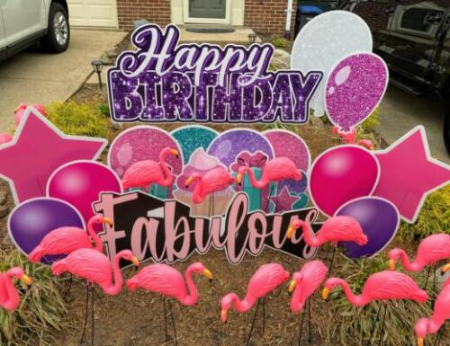 fabulous flamingo yard card springfield va
