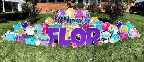 flor happy birthday yard signs northern virginia