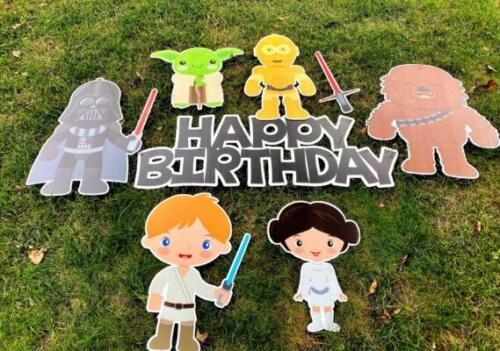 star wars birthday yard cards springfield va