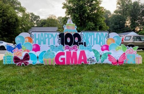 gma 100th birthday yard sign burke va