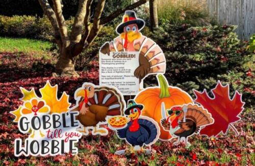 you've been gobbled thanksgiving yard card signs springfield va