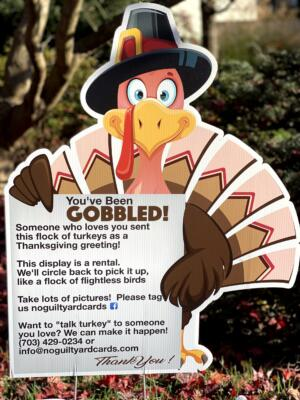you've been gobbled thanksgiving yard card signs west springfield va