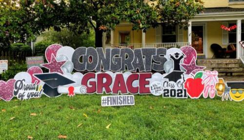 grace graduation yard sign arlington va