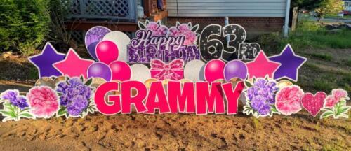 grammy 63rd birthday yard card lorton, va
