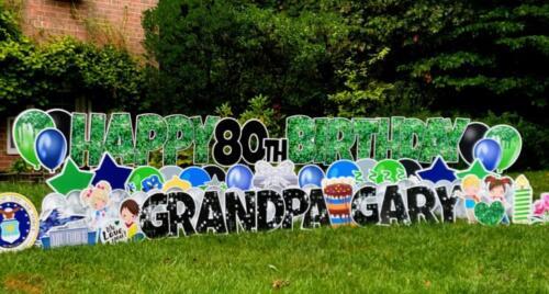 grandpa gary 80th birthday yard sign springfield va