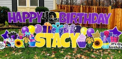 happy 40th birthday yard sign burke va