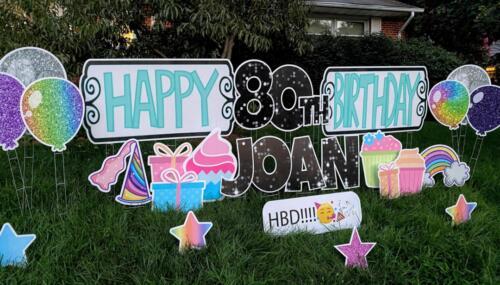 Happy Birthday yard card centreville va