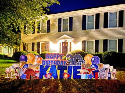 happy birthday yard sign centreville va