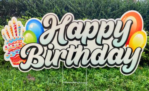 happy birthday flash orange balloon