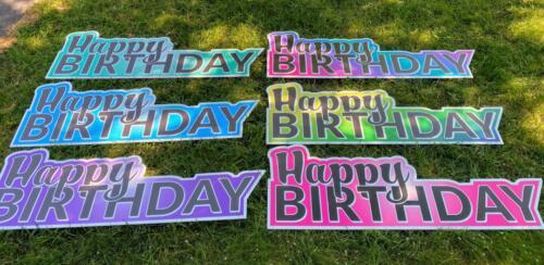happy birthday flash yard signs burke VA