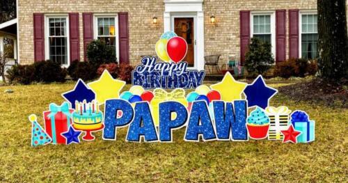 happy birthday yard card fairfax va