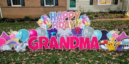 grandma birthday yard sign west springfield va