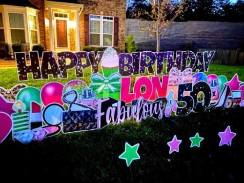 happy fabulous 50th birthday yard sign
