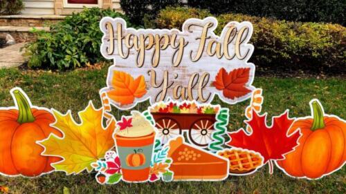 happy fall yall pie yard sign