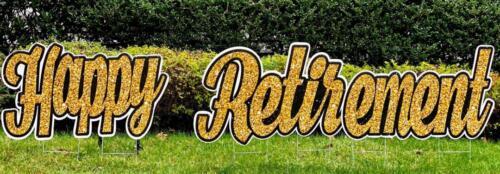 happy retirement yard sign springfield va