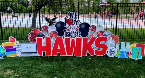 hawks teacher appreciation yard sign alexandria va