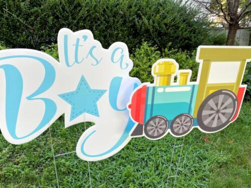 its a boy yard card baby shower springfield va