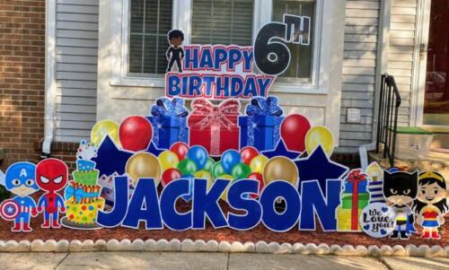 jacksons 6th birthday yard sign springfield va