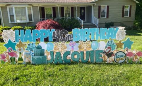 jacquie 40th birthday yard sign fairfax station va