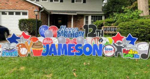 jameson birthday yard card springfield va