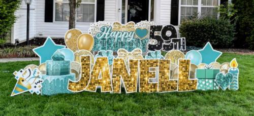 janell birthday yard sign springfield va