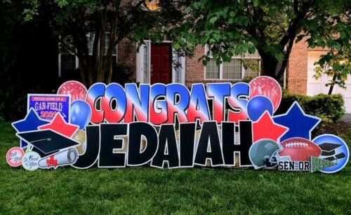 jed graduation yard card woodbridge va